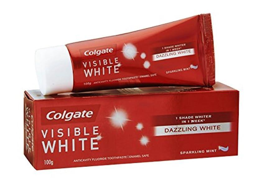 科学者永遠に交換可能Colgate Visible White Dazzling White Toothpaste, Sparkling Mint - 100gm