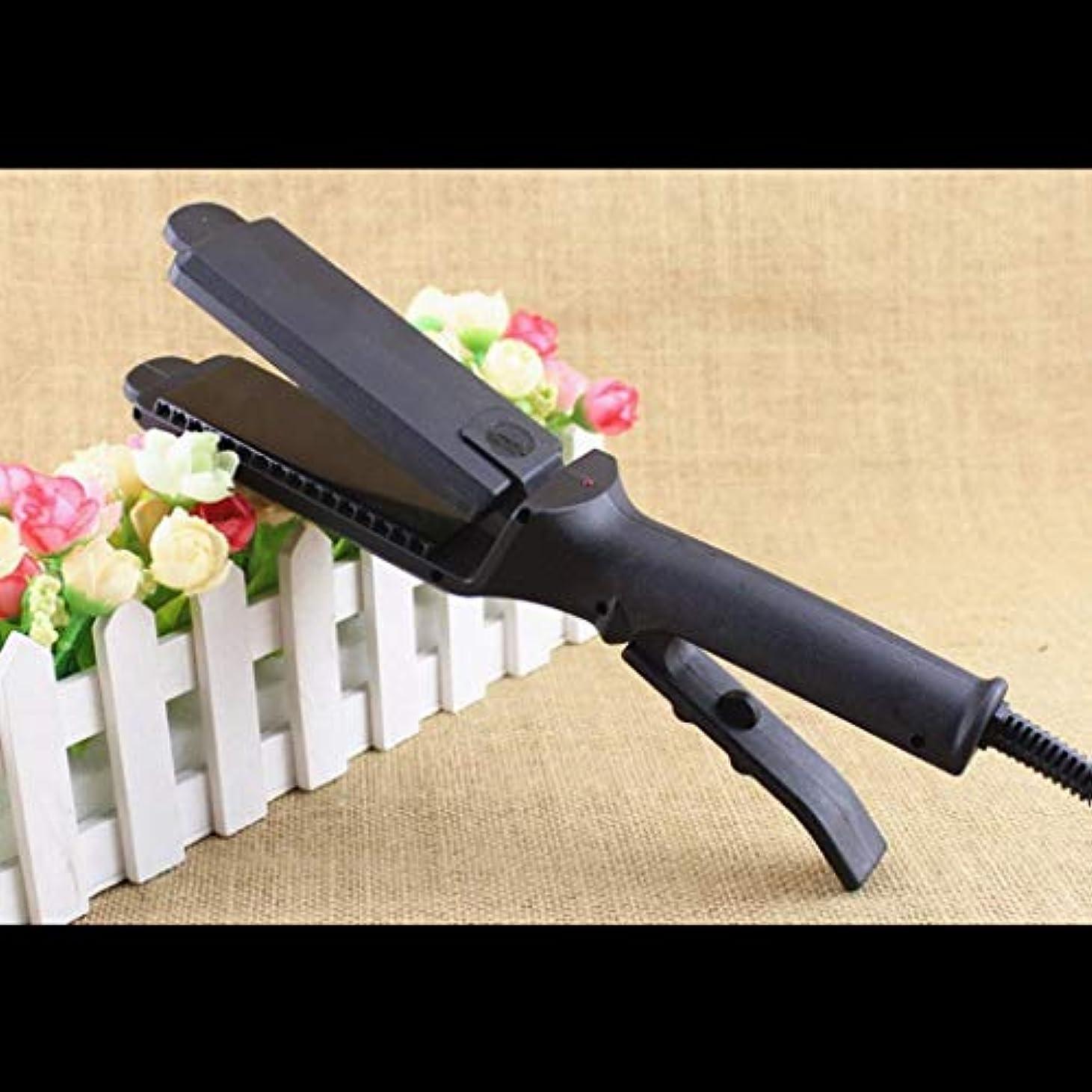 ピンポイント応じるシャベルJWWOZ 4ストレートヘアアイロンサーモスタットマイナスイオンは髪を傷つけない、美容院の特別なトウモロコシホット合板空気前髪 ストレートヘアアイロン (Size : M)