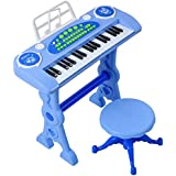 SXET-Keyboard Children's Piano Toy Keyboard 1-5 Years Old Child Birthday Gift (Color : Blue)