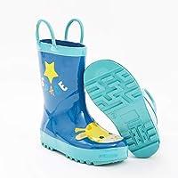 [美しいです] 子供用 雨靴 ショートブーツ 男の子 女の子 レインシューズ キッズ 防水 長靴 写真色C29