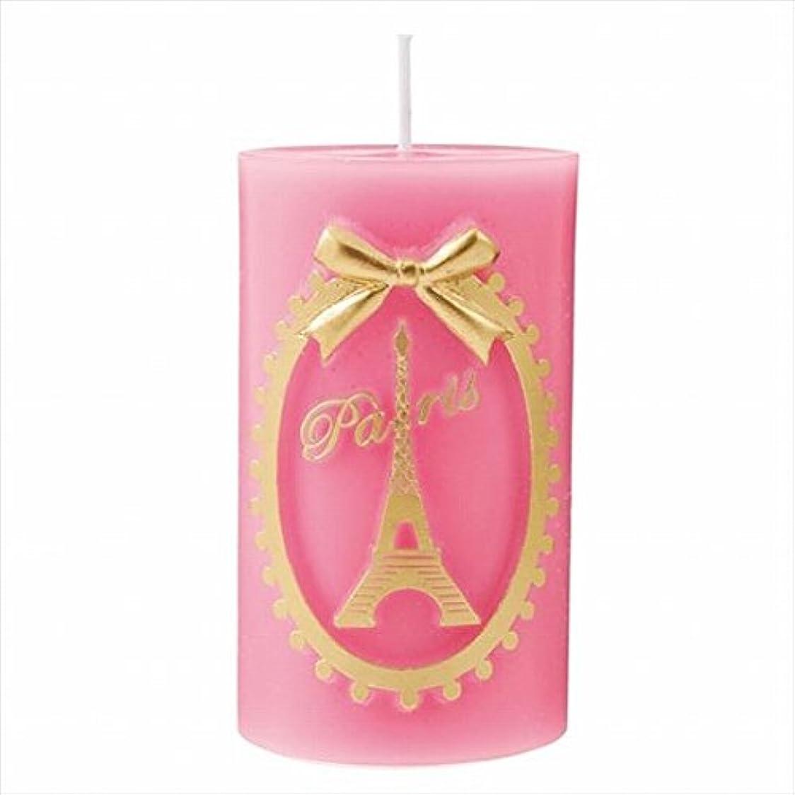パフ汚染する戻すカメヤマキャンドル( kameyama candle ) エッフェル塔ピラー 「 ピンク 」