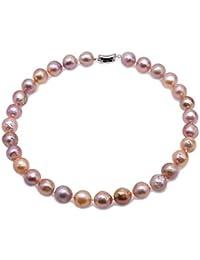 JYXパールAA +品質13?14ミリメートルシャンパンバロック淡水養殖真珠のネックレス18インチ
