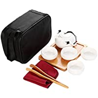 Perfk 巧み デザイン 中国 Kungfu茶 手作り 陶器 茶セット 多種選べる   - #D白