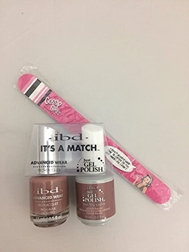 インテリア中国花火ibd - It's A Match -Duo Pack- Nude Collection - Dim the Lights - 14 mL / 0.5 oz Each