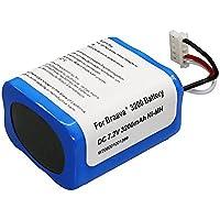 ブラーバ 380J バッテリー 3200mAh for Irobot Braava 380J / 380T / Mint Plus 5200 5200c 5200B 対応 7.2V 交換用ニッケル水素 充電池 3.2Ah 汎用 7.2V 大容量 充電池(SHINGA BATT)