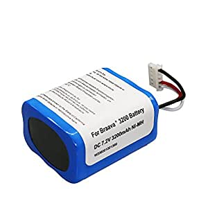 380jブラーババッテリー互換 3200mAh for Irobot Braava 371j 380 380j Mint Plus 5200 5200c 5200B 対応 4449273 掃除機用ニッケル水素 充電池 汎用 大容量(SHINGA BATT)