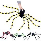Rabugoo 蜘蛛 ハロウィーン シミュレート スパイダー いたずらおもちゃ ハンティング ペンダント ハロウィン バー 幽霊 お化け屋敷  家 プロップ屋内/屋外の装飾