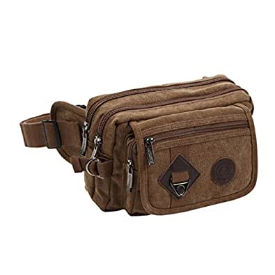 MONOLIFE(モノライフ) ウエストバッグ 大容量 6ポケット メンズ レディーズ ヒップバッグ 全4色 (ブラウン)