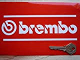 Brembo Cut Vinyl Double Line & Text Stickers White ブレンボ ステッカー デカール シール 海外限定 180mm x 60mm 2枚セット [並行輸入品]