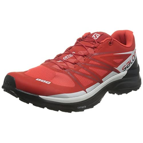 [サロモン] SALOMON トレイルランニングシューズ S-LAB WINGS 8 L39121500 RACING RED / BLACK / WHITE (RACING RED / BLACK / WHITE/26.5)