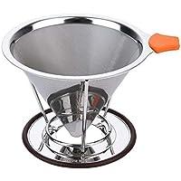 Syooy絞ら円錐コーヒーフィルタwith個別スタンドforホームキッチンオフィスコーヒーメーカー( 1 – 4 Cups )