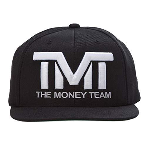 (ザ・マネーチーム) THE MONEY TEAM tmt-h006-3kw THE MONEY TEAM ザ・マネーチーム COURTSIDE (黒ベース&白ロゴ) 刺繍ロゴ キャップ ザ・マネーチーム フロイド・メイウェザー