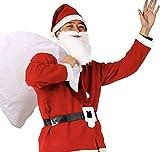 ROZZERMAN サンタクロース コスチューム 大人用 コスプレ 衣装 セット メンズ クリスマス パーティー セット商品 (男女兼用セット)