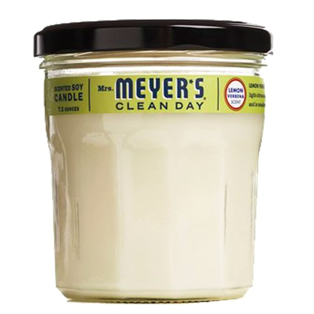 通路共産主義借りているMrs。Meyer 's Clean Day Soy Candle、7.2-ounceガラスジャー(ケースof 6 ) -lemon Verbena