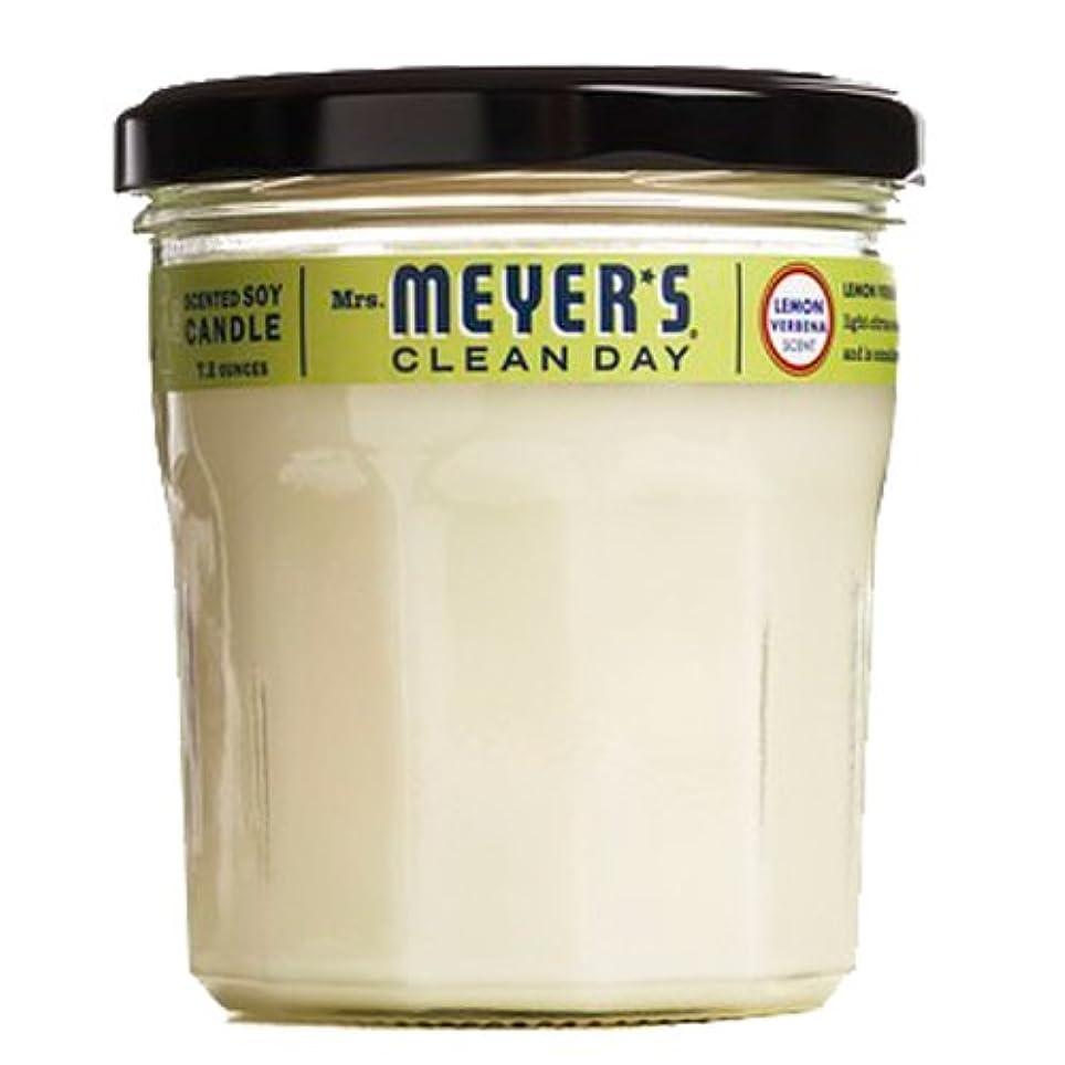 援助するピン入植者Mrs。Meyer 's Clean Day Soy Candle、7.2-ounceガラスジャー(ケースof 6 ) -lemon Verbena
