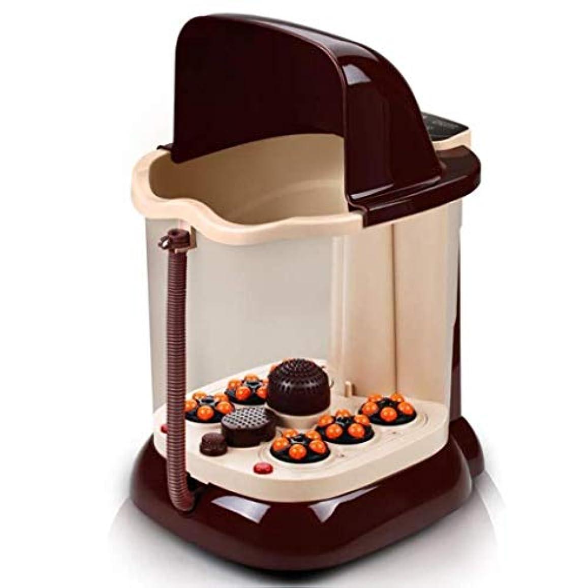 買うまだクラウンフットマッサージャー、電動フォームベイスン、加熱フットマッサージおよびマッサージャー、マッサージマシンは、石を回転させて循環を促進できます
