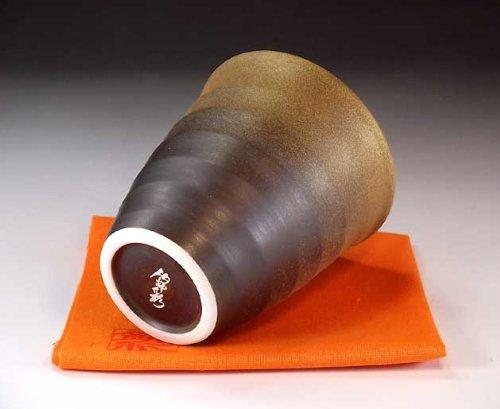 有田焼陶器 窯変金彩湯呑み|贈答品|記念品|ギフト|プレゼント|陶芸家 藤井錦彩