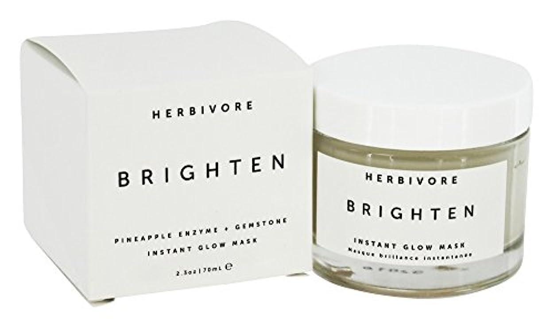 気晴らし人質ロードされたHERBIVORE Brighten Pineapple + Gemstone Mask 68ml