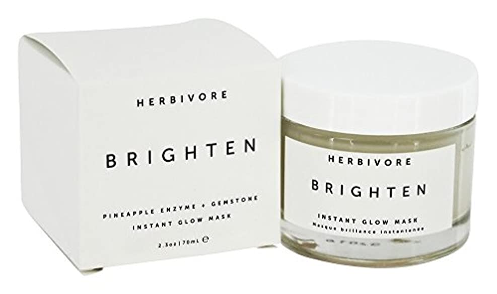 革命的幸福全能HERBIVORE Brighten Pineapple + Gemstone Mask 68ml