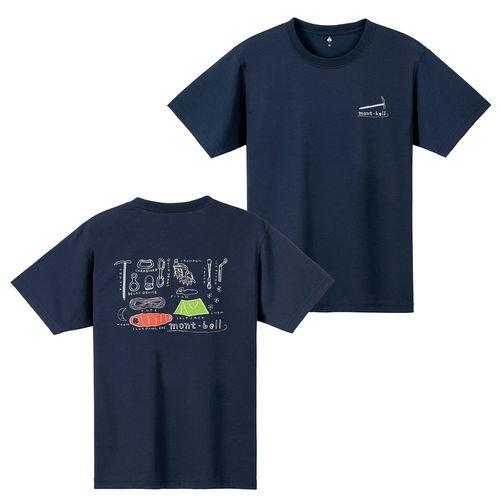 モンベル mont-bell ユニセックス アウトドア 半袖 Tシャツ WIC.T 山の道具 1114249 DKNV ダークネイビー