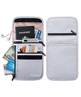 FREETOOパスポートケース 首下げ スキミング防止 クラッチバッグパスポートバッグ カバー カードケース