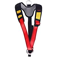 HaoFst Climbing Harness Belt for Fire Rescue High Altitude School Assignment Caving Rock Climbing Rappelling Equipment Body Guard Protect