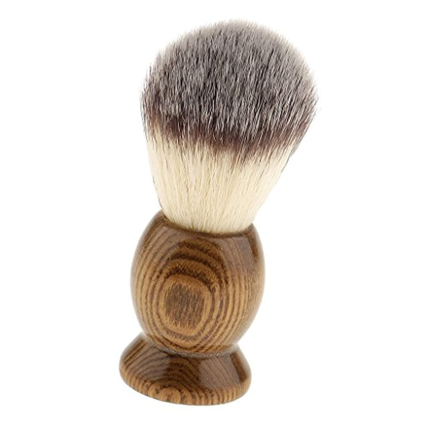 折る郵便番号豊富に髭剃りブラシ メンズ シェービングブラシ 泡立ち サロン 家庭 父の日 プレゼント 全5種類 - 5