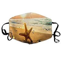 マスクビーチとヒトデの夕日防塵マスク夏の薄いセクション日焼け止めUV防塵通気性洗える、再利用可能