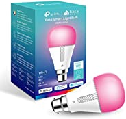 TP-Link Kasa Smart Wi-Fi Light Bulb, Multicolour, Dimmable, No Hub Required, B22 Lamp Base, Control from Anywh