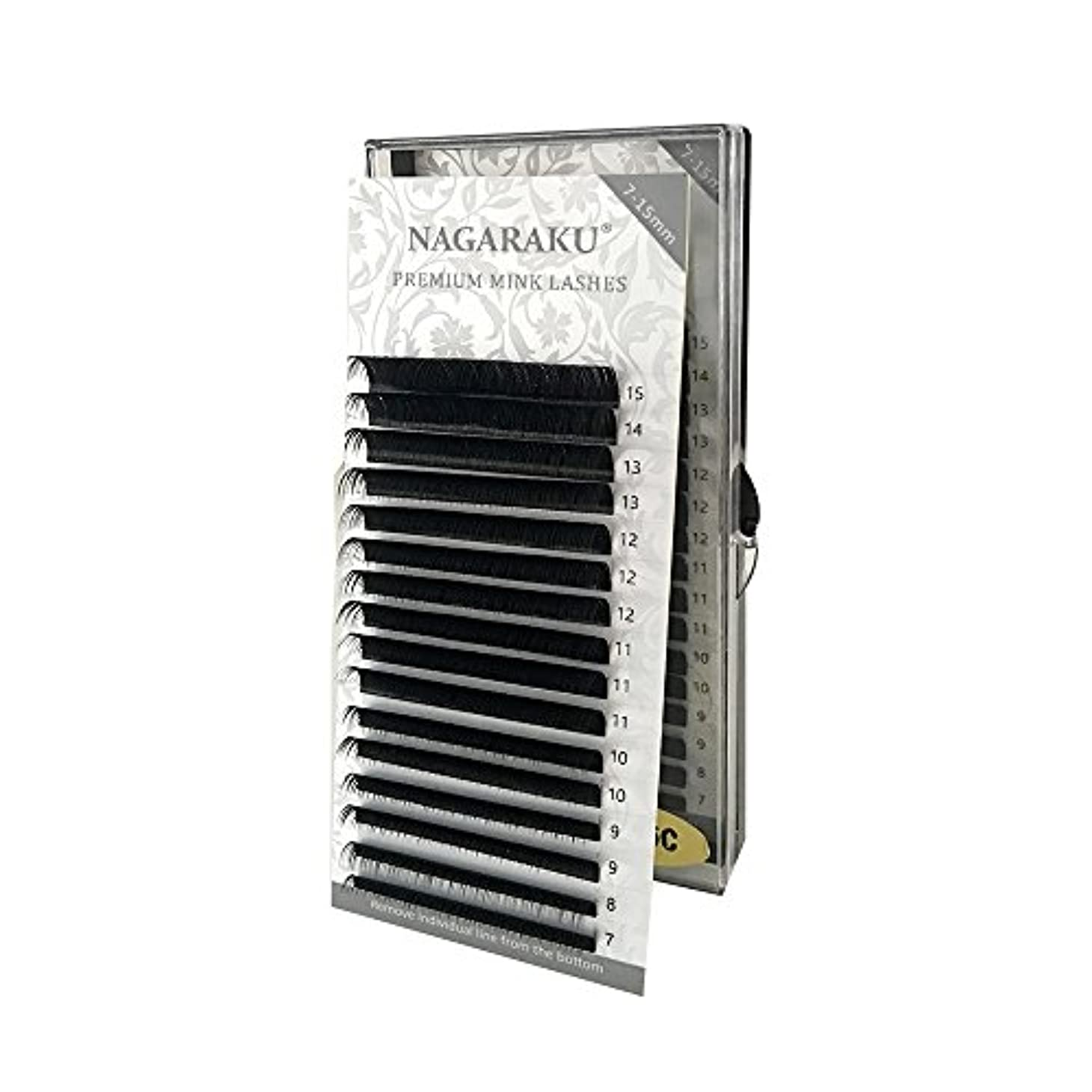 ホステスマラドロイト方法論NAGARAKU 太さ0.10mm Cカール 7~15mmミックス まつげエクステ