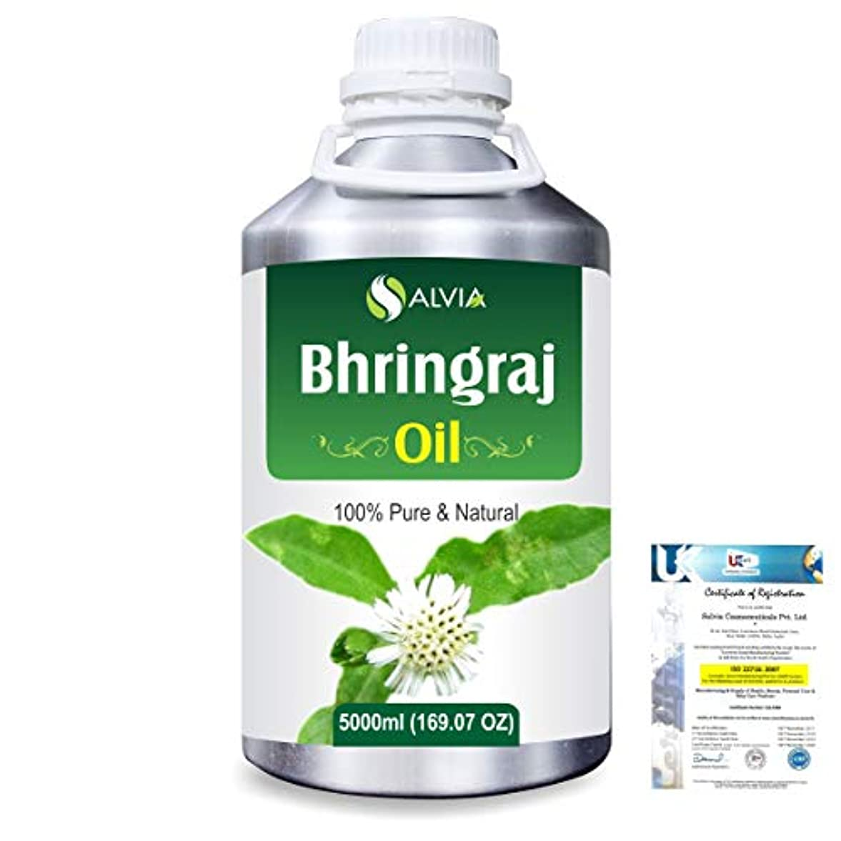 不変その他カートBhringraj 100% Natural Pure Oil 5000ml/169fl.oz.
