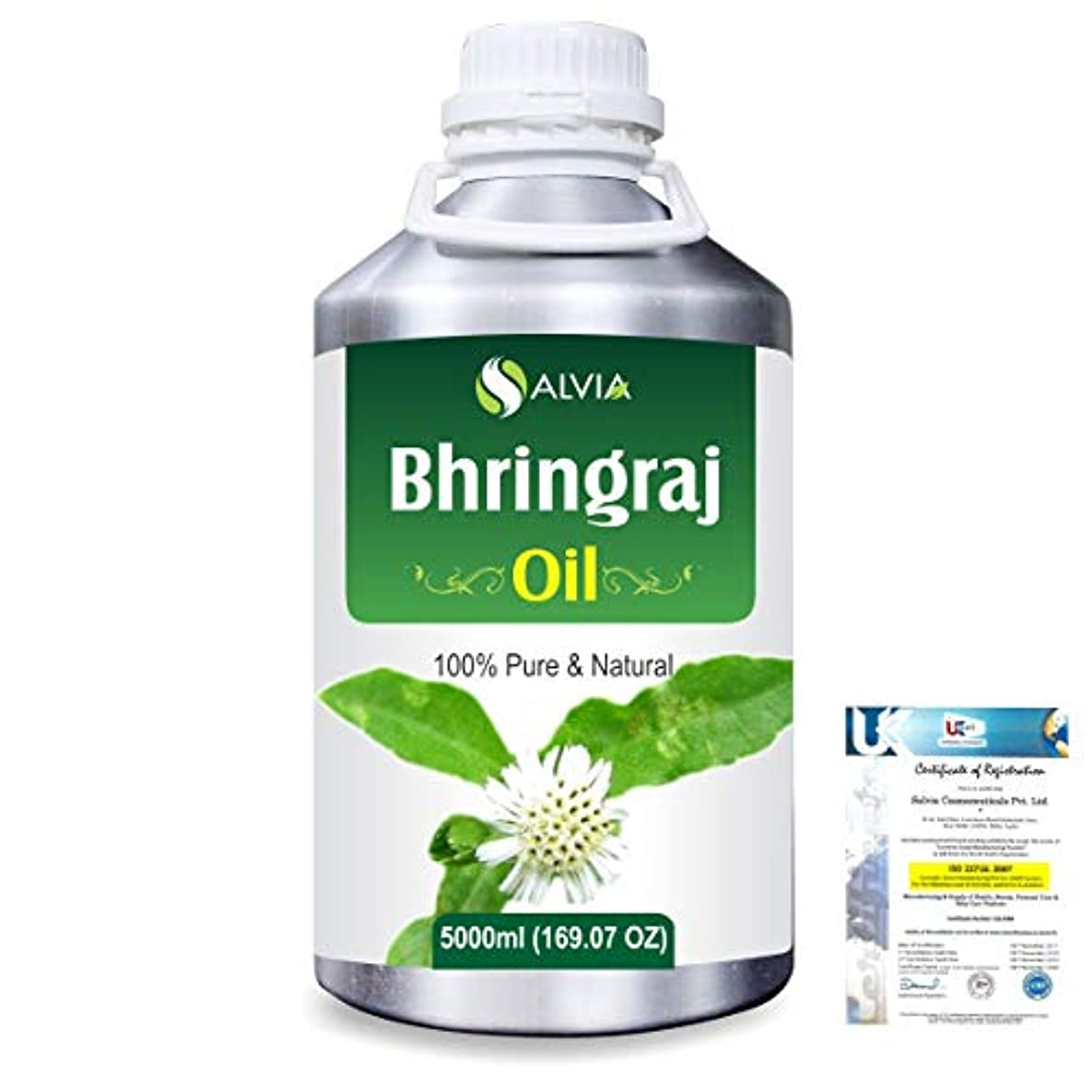 失敗設置興奮するBhringraj 100% Natural Pure Oil 5000ml/169fl.oz.