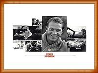 ポスター シド アベリー Steve McQueen(スティーブ マックイーン) 額装品 ウッドベーシックフレーム(オレンジ)