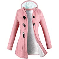 VOGRYE Womens Winter Fashion Outdoor Warm Wool Blended Classic Pea Coat Jacket (7 Days DELIVERY)