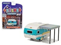 1958 Catolac DeVille Travel Trailer White and Teal 1/64 Diecast Model by Greenlight サイズ : 1/64 [並行輸入品]