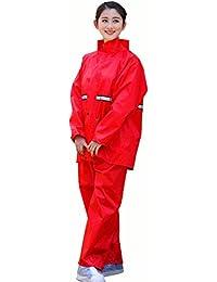 雨具 防水 女性用 通学 便利 セット レインコート 大人 アウトドア 分割 厚い ポンチョ 女性 (サイズ : M)
