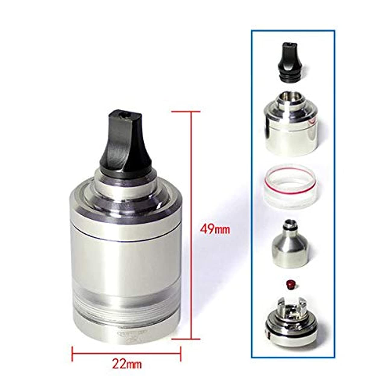 ポルティコ差別的アクセシブルSXK NOL MTL Style 22MM RDTA Rebuildable Dripping Tank Atomizer 4.0ML