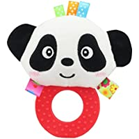anwish FristソフトRattle Teethingおもちゃ、子供ベビー乳児Panda Plush Soft Rattle Teething Toy
