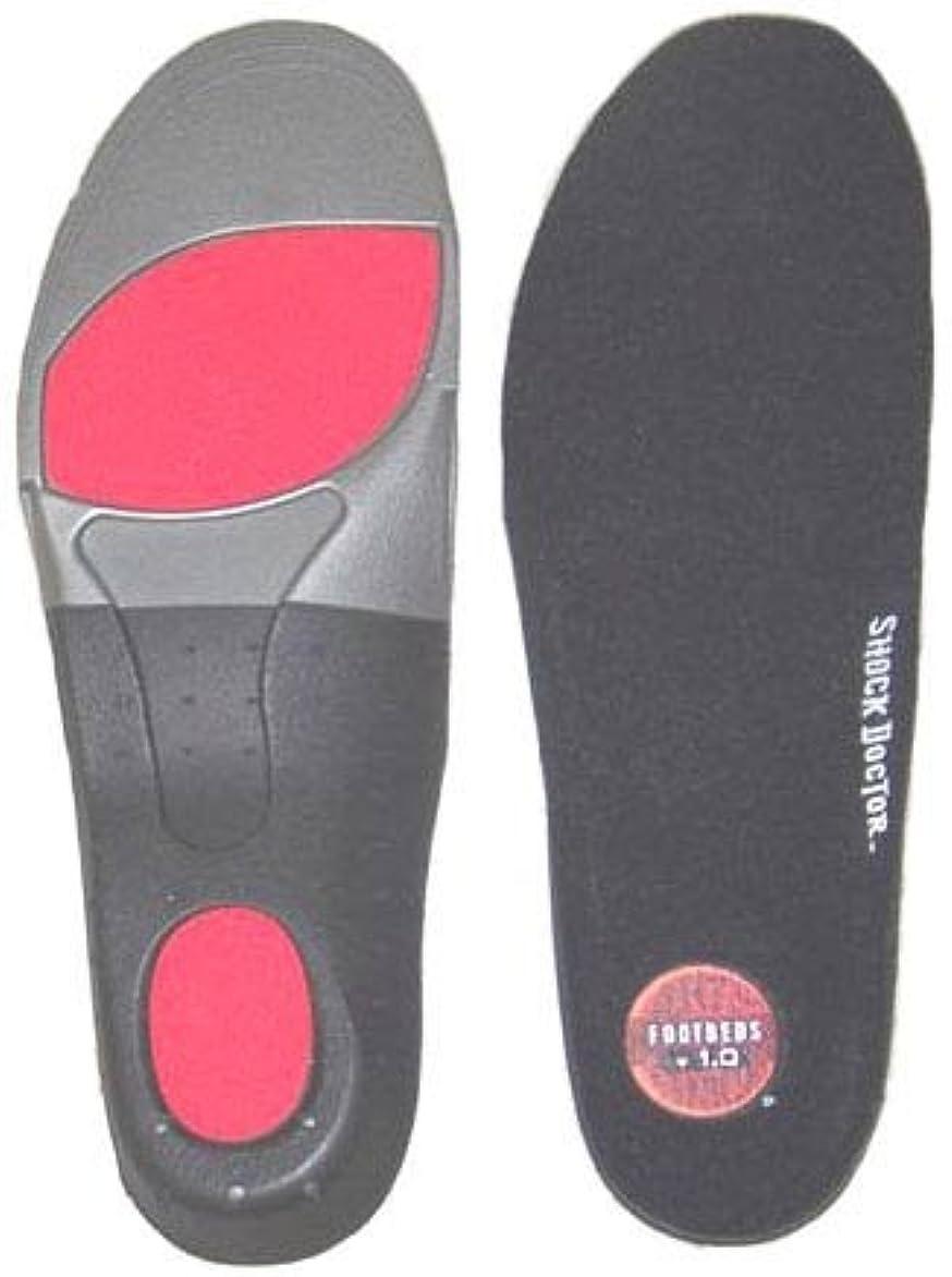 モート柔らかい足感嘆符Shock Doctorカスタムサポートマルチ目的インソールランニングハイキングスケート、1ペア