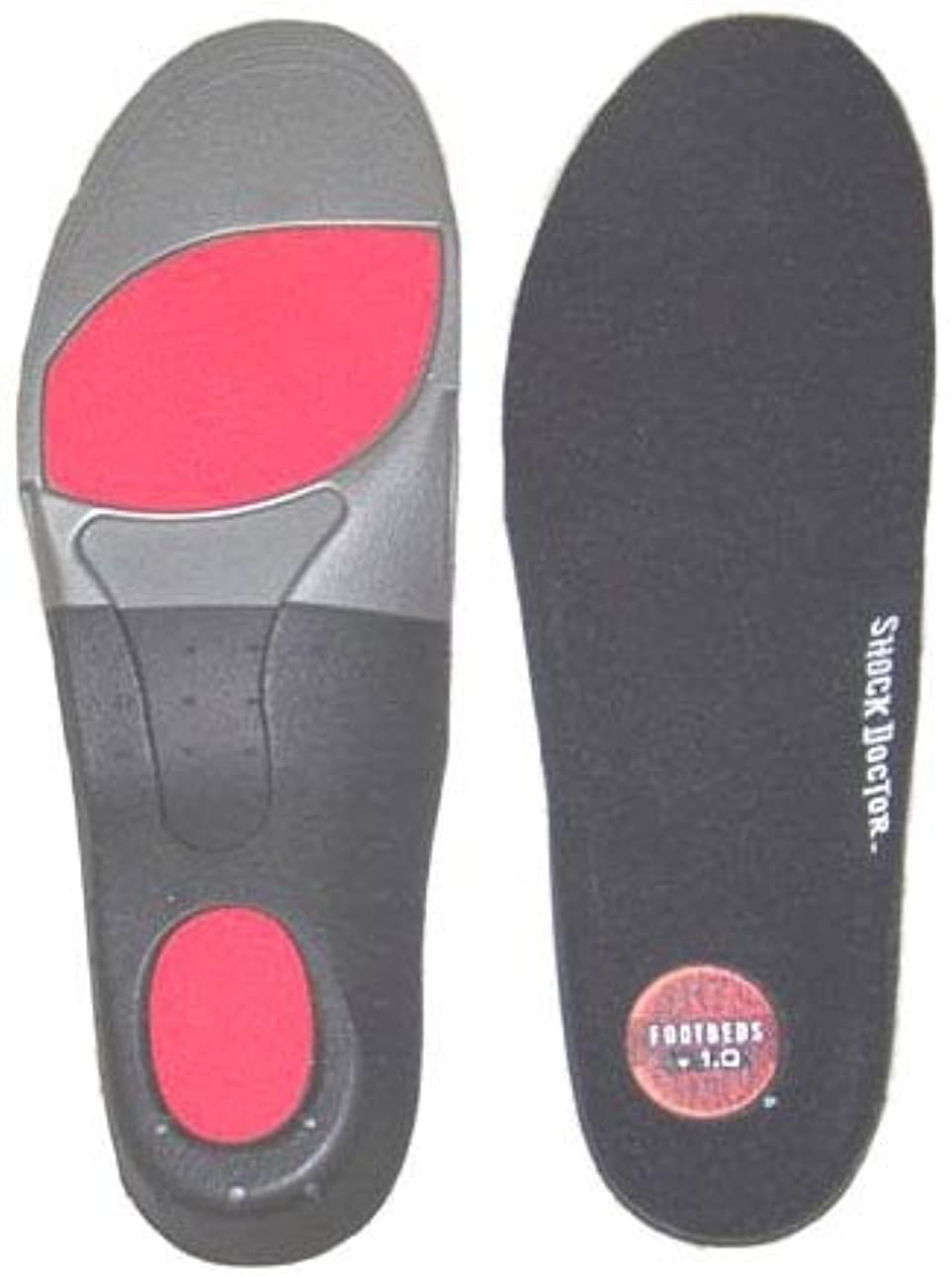 早熟オリエンタルスカーフShock Doctorカスタムサポートマルチ目的インソールランニングハイキングスケート、1ペア