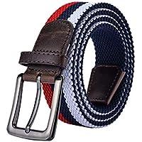 Unisex Men Women Vintage Casual Canvas Braided Belt Woven Braided Waist Belt for Jeans Zhhlaixing