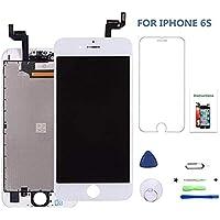 iPhone 6s 4.7インチ交換修理用フロントパネル(フロントガラスデジタイザ)【強化ガラスフィルム・修理工具付き・iPhone修理】 iPhone6s/アイフォン6s タッチパネル 液晶パネルセット (白)