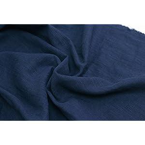 NBK スラブダブルガーゼ生地 巾104cm×1m切売カット ネイビー YS12256-9-1M 手芸・ハンドメイド用品