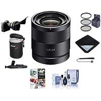 Sony Carl Zeiss 24mm f / 1.8・EマウントNEXカメラレンズ–Bundle with 49mmフィルタキット、ソフト、レンズケースレンズ、ラップクリーニングキット、Lenspenレンズクリーナー、Capleash II、Flexレンズシェード、Proソフトウェアパッケージ