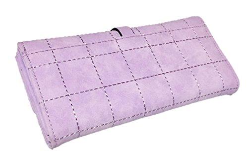 財布 レディース 長財布 人気 三つ折り 高品質なやわらか素材 5色 SLEEP SHEEP (パープル)
