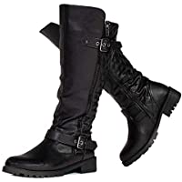 RF ROOM OF FASHION Womens Motorcycle Boots