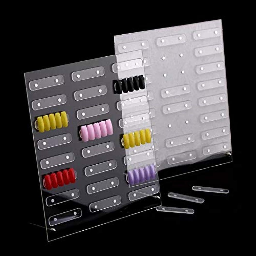 ふくろう身元のホスト磁石付きネイルサンプルディスプレイボード展示板 大容量24セット設置可能 見本ボード サンプルチップ貼り付け板 入れ替え取り外し簡単ラクラク! (大 (32ピース))
