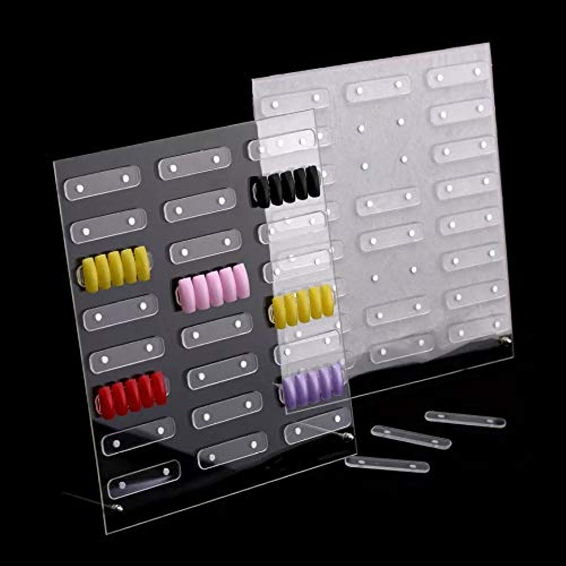 与える糸粘土磁石付きネイルサンプルディスプレイボード展示板 大容量24セット設置可能 見本ボード サンプルチップ貼り付け板 入れ替え取り外し簡単ラクラク! (大 (32ピース))