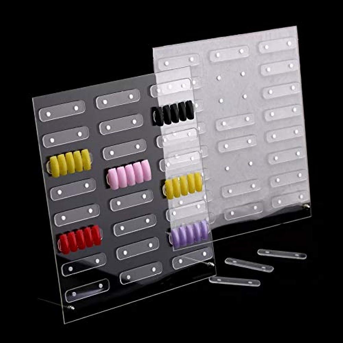 解説読みやすいダース磁石付きネイルサンプルディスプレイボード展示板 大容量24セット設置可能 見本ボード サンプルチップ貼り付け板 入れ替え取り外し簡単ラクラク! (大 (32ピース))
