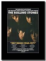 - The Rolling Stones - Hot Rocks 1964-1971 - つや消しマウントマガジンプロモーションアートワーク、ブラックマウント Matted Mounted Magazine Promotional Artwork on a Black Mount